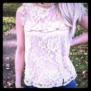 Blueh Ciel Lacey Blouse Nude S